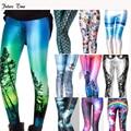 2017 Nuevas mujeres flacas de las polainas, 8 colores Sexy 3D Gráfico MH061 Colorida Impreso Mujeres Legging deportivos legging el envío libre