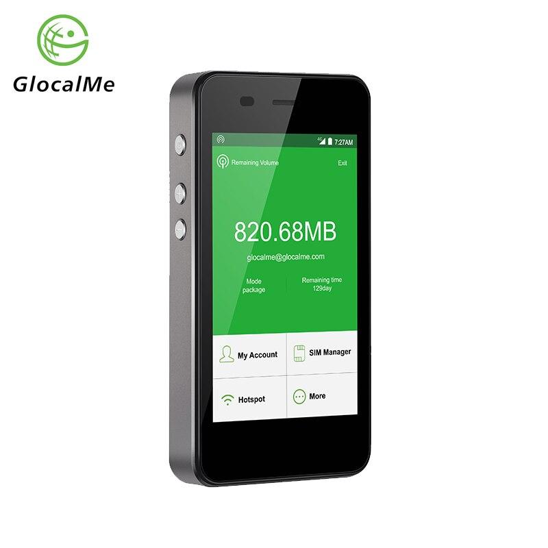 GlocalMe G3 4g WiFi Router 150 Mbps LTE Wireless Mobile Sbloccato Hotspot Nero Accumulatori e caricabatterie di riserva con 1 gb Globale Iniziale dati SIM di Trasporto
