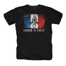 Tees Erkek Harajuku Üst Spor Marka Giyim T Shirt Gömlek Yabancı Lejyonu Fransa Kült Hediye Legion Çöl Silah Ordu Tişört