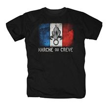 Tees Male Harajuku Top Fitness Brand Clothing T Shirt Shirt Foreign Legion France Cult Gift Legion Desert Weapon Army Tee Shirt