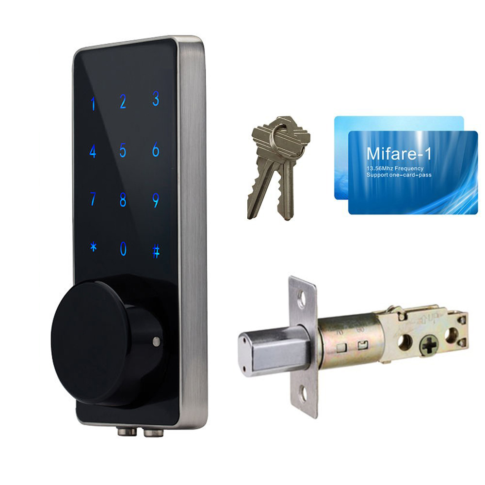 Digital Smart Door Lock Electronic TouchScreen numeric keypad Deadbolt Door Lock Unlock with M1 Card Code or Mechanical Key жим от груди 225 ф inotec nl2