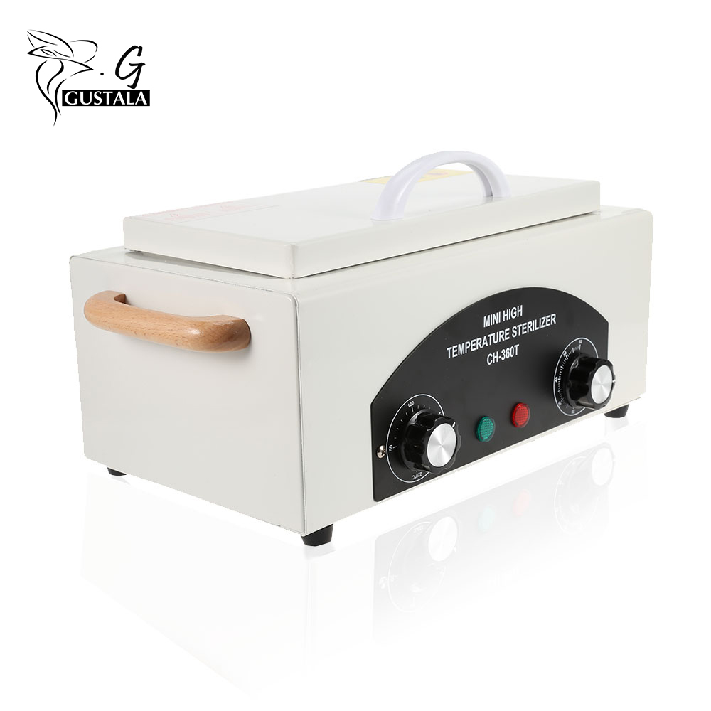 Professional High Temperature Sterilizer Box Nail Art Salon Portable Sterilizing Tool Manicure Nail Tool Dry Heat Sterilizer