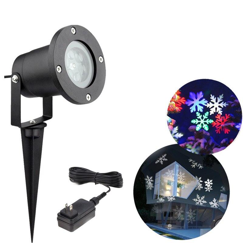 LED noël lumières 12 modèles lumières flocon de neige Logo lampe de Projection lampe de pelouse Laser Film lampe extérieure étanche lumières IP65