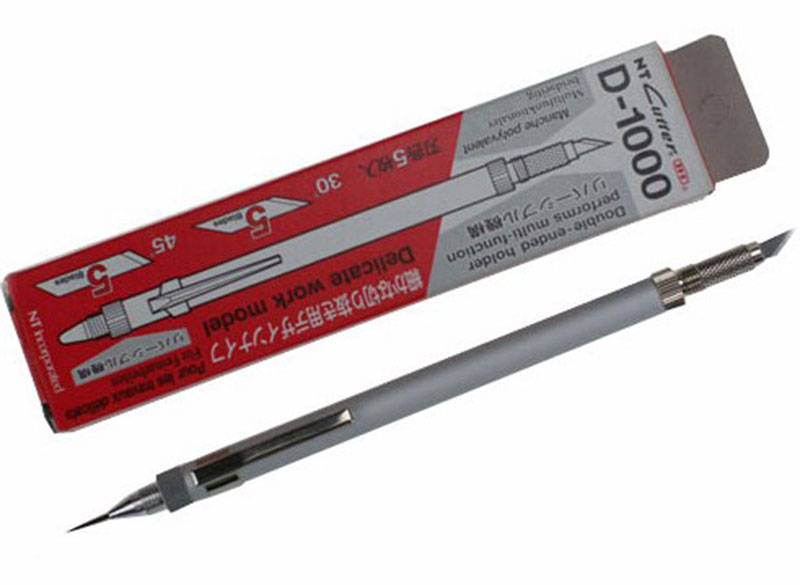 Japan D-1000 All-metal Art Knife Pen Knife Craft Knife Hand-carved Design Knife For Precision Work With 10pcs Blades