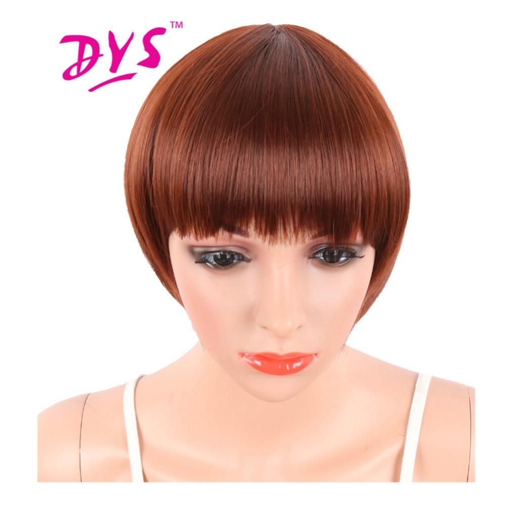 deyngs corte pixie corta recta pelucas sintticas de color rojo para las mujeres negro natural peluca