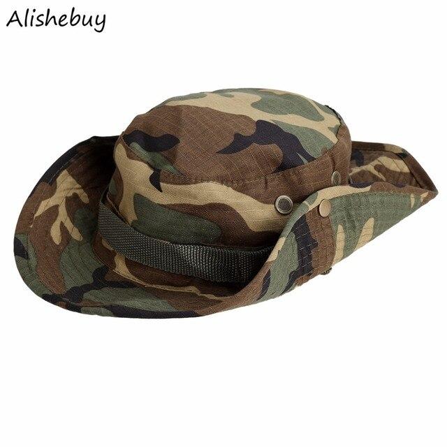 5a5df4eedb33f Verano caliente camuflaje boonie sombreros nepalés Cap militares ejército  hombres americana Militar Accesorios Sol CAPS BRIM