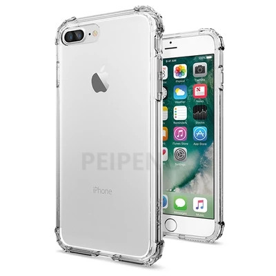 PEIPENG  Luxury phone CaseThickened anti-fall For iPhone XS MAX XR X Ultra Thin Transparent Back Case For iPhone 6 6s 7 8Plus Simple 10