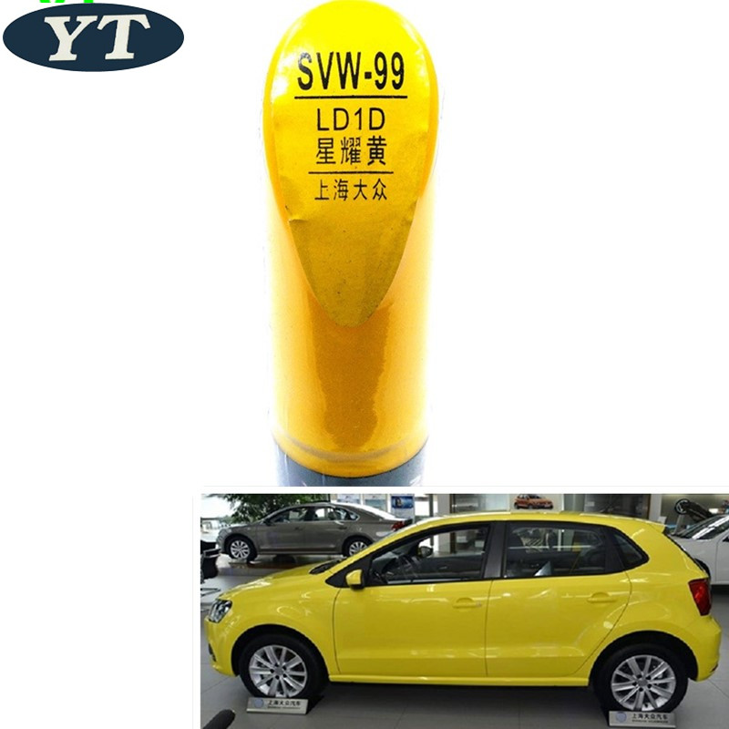 Car Scratch Repair Pen, Auto Painting Pen YELLOW Color For Volkswagen Polo Golf 6,7 Touran Passat Tiguan CC ,car Painting Pen