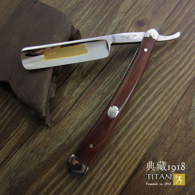 free shipping Titan straight razor  wooden handle   hand made  stainless steel balde цены