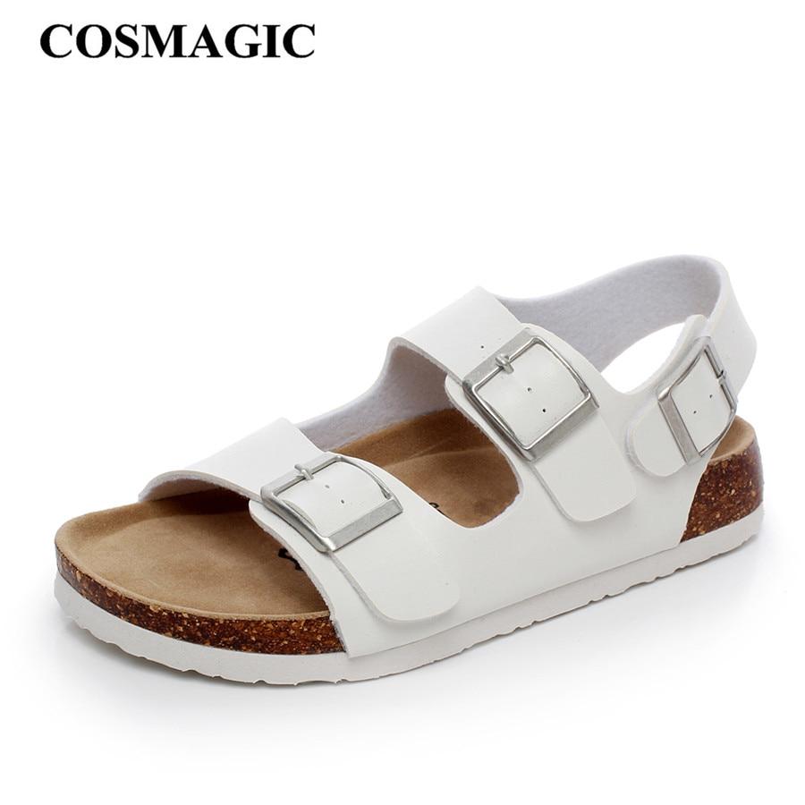 Womens black cork sandals