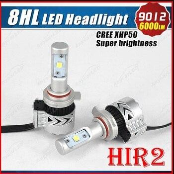 TOYIKIE 1Set  9012 72W 12000LM 6500K with XHP50 LED Car Headlight Conversion Kit Fog Lamp Bulb Super White