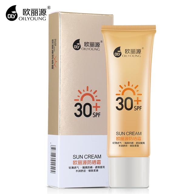 OILYOUNG Sol Cuidados para o Rosto Creme Hidratante Reparação Sol Corpo Isolamento Protetor Solar SPF30 + Maquiagem Beleza