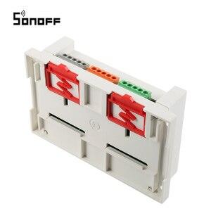 Image 4 - Sonoff 4CH Wifi anahtarı akıllı ev 4 kanal uzaktan kumanda ev otomasyon modülü açık/kapalı kablosuz zamanlayıcı DIY anahtarı din raylı montaj