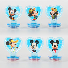 6 Pcs Set Mickey Mouse Stamp Painting Craft Stamps Stationery Kid Snow Party