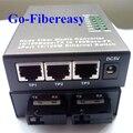2 шт. / lot 2FX-3TX WDM 10 / 100 мбит волокно волоконно-оптических медиа преобразователь одномодовый один волокно 3 UTP стандартный разъём - 45 коннектор 2 SC порт