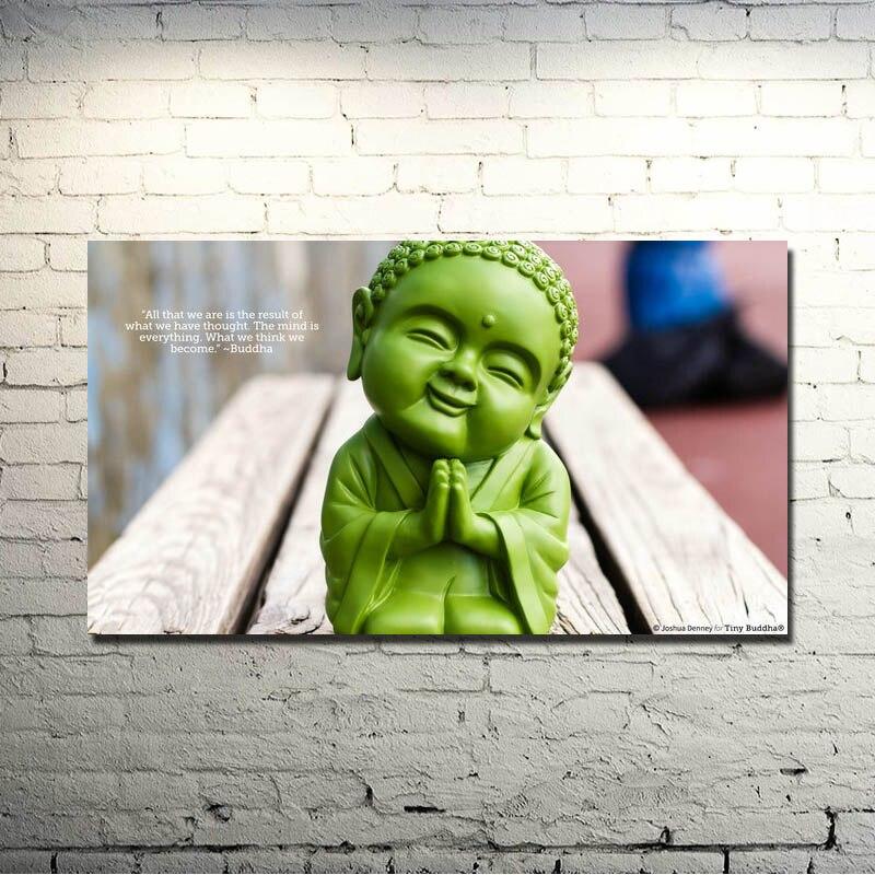 Zen piedra bambú-budismo arte seda cartel 13x24 24x43 cuadros ...