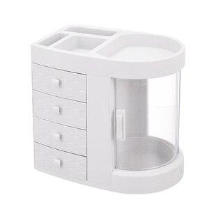 Image 5 - 2019 Hot Sale Women bathroom cosmetics storage box and dustproof bathroom Large makeup organizer skin care jewelry storage drawe