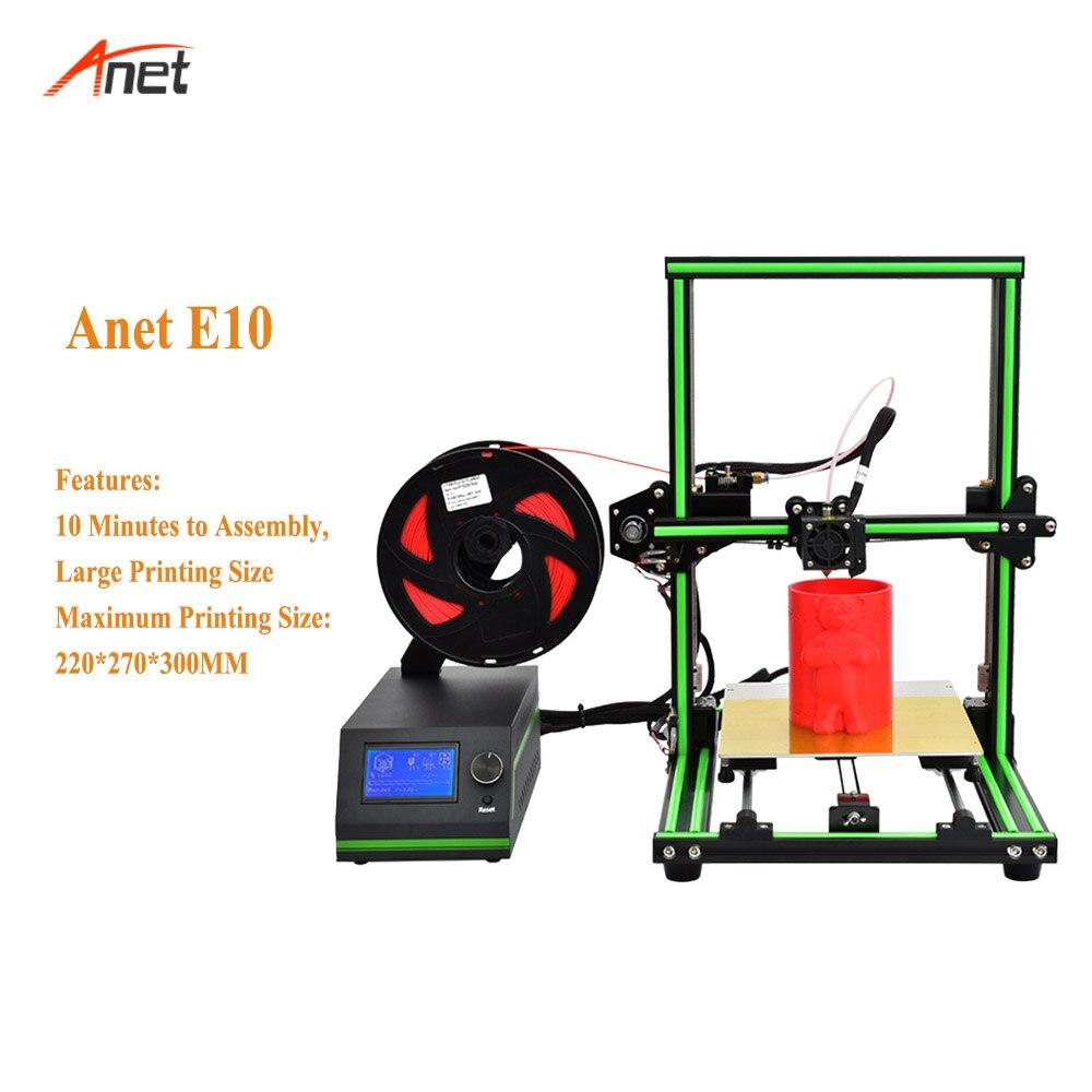 Anet E10 2018 Hot Koop Aluminium Frame DIY 3d Printer Machine 10 minuten te Monteren Gemakkelijk Operationele Impressora 3d Hoge precisie