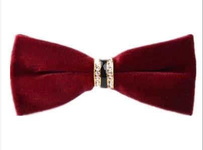 2017 nieuwe luxe Koreaanse versie van de Koreaanse versie van de goud fluwelen strikje mannen rode bruidegom trouwjurk zakelijke strikje