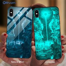 Luxury Luminous Tempered Glass Case For XiaoMi