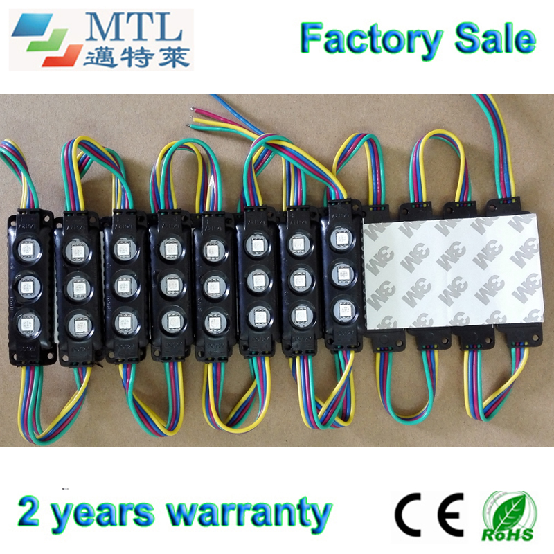 Здесь продается  5050 RGB LED module 12V, Back lighting for channel letters / light Boxes, blak, IP65 waterproof,  200PCS/lot,  Factory Wholesale  Свет и освещение