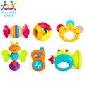 6 Unidades Del Traqueteo Del Bebé de Juguete de Regalo Set con Espejo, campanas y Instrumentos Huile Juguetes 939