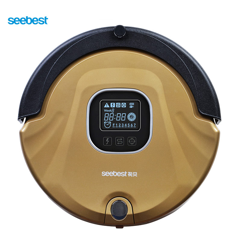 Seebest C565 EVE 2.0 Automatic Robotic Vacuum Cleaner with LCD Screen, Two Rolling Brush and Vacuum, Carpet Cleaner