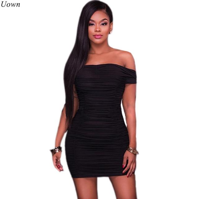 36825e656bf6f US $21.37 |Doyerl Sexy Slash Neck Little Black Dress Off Shoulder Draped  Women Elegant Short Party Bodycon Dresses Vestidos Listrado Curto-in  Dresses ...