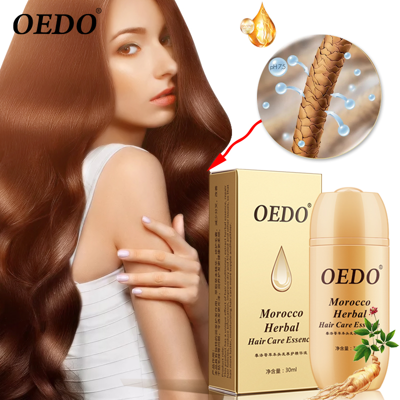 30ML Moroccan Hair Loss Treatment Ginseng Ginger Hair Growth Oil Herbal For Dry Hair Care