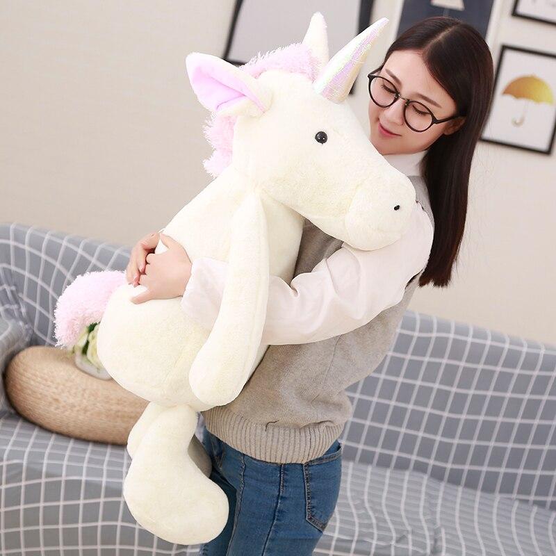 50cm Fluffy Unicorn Plush Toy Soft Stuffed Flying Horse Soft Unicorn Plush Stuffed Animal Doll Birthday Gift Kids Gift