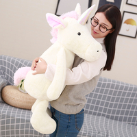 50cm Fluffy Unicorn Plush Toy Soft Stuffed Flying Horse Soft Unicorn Plush Stuffed Animal Doll Birthday Gift Kids Gift