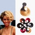 Amapro produtos de cabelo 10 inch 50g Brasileiro Do Cabelo Tecer Ombre Dois Cor de tom Do Cabelo Humano Pacote 1 #2 # 1b/27 1b/30 1b/Burgundy 1b/Red