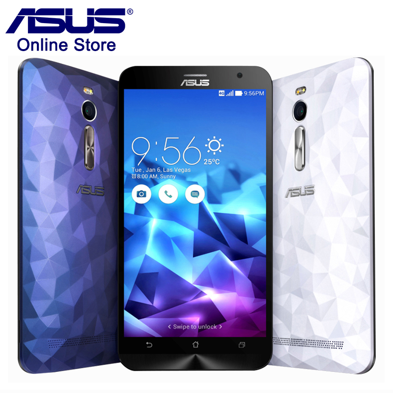100% ASUS Zenfone 2 Deluxe ZE551ML 4GB RAM 16GB ROM Smartphone Dual SIM Intel Z3560 Android 5.0 Quad Core 1.8GHZ Mobile Phone