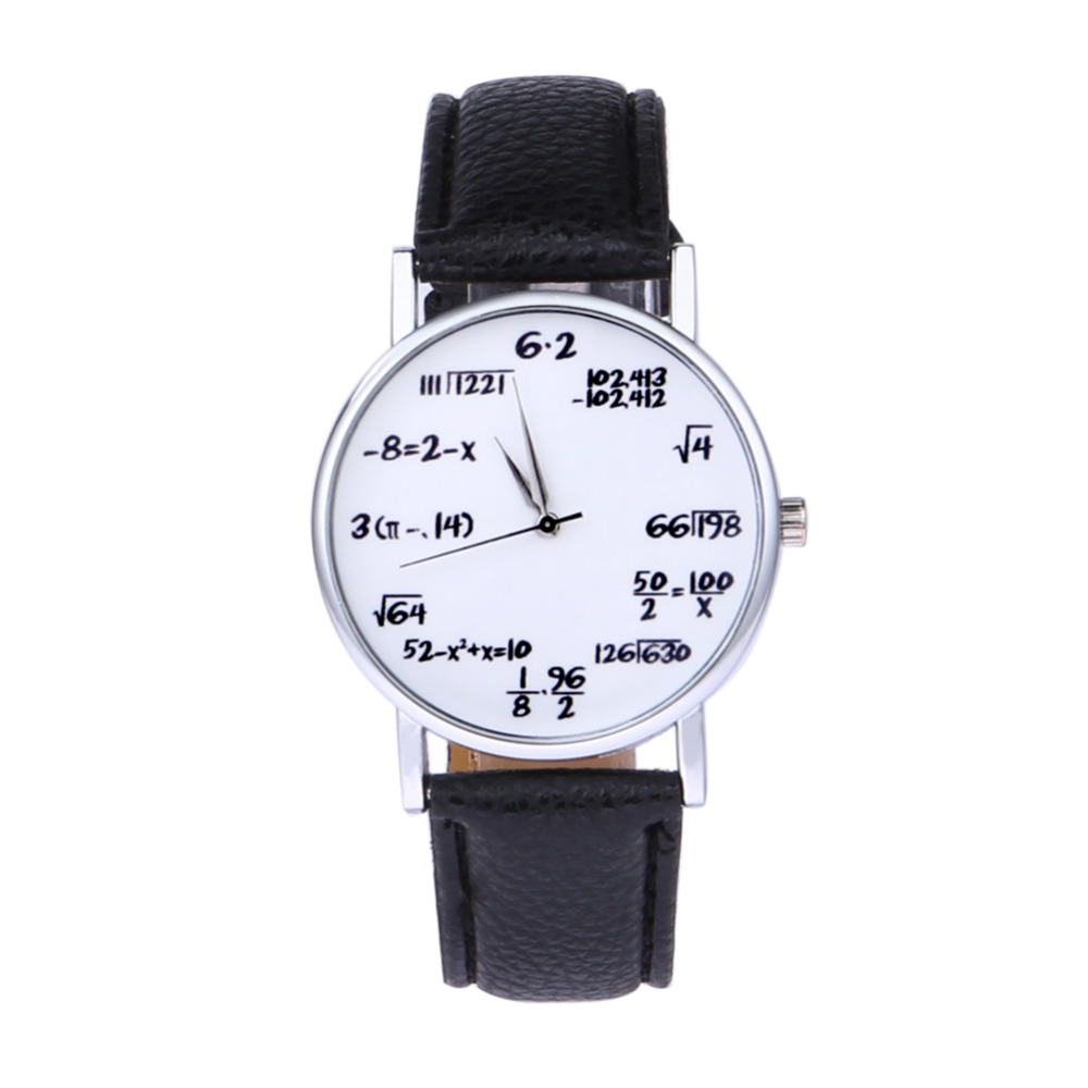 Quartz Women's Watch Clock Mathematics Leather Lovers Watches Student Moment saat erkekler orologio matematica