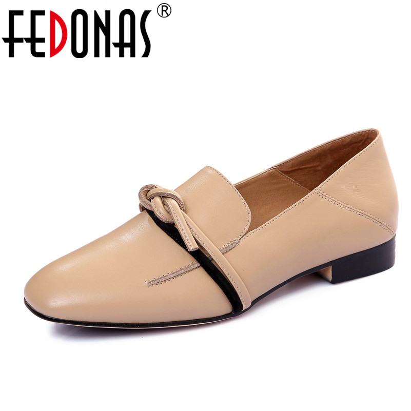 FEDONAS New Fashion Women Flat Shoes Round Toe Genuine Leather Flat Loafer Shoes Woman Comfort Retro Flats Shoes Female Shoes 2016 new fashion women flats women genuine leather flat shoes female round toe casual work shoes women shoes