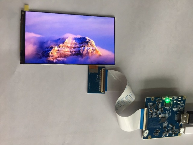 UP to 60HZ 5.5 inch 1440p wqhd 2560x1440 vr display lcd screen with hdmi to mipi for 3d vr glasses diy 3d printer raspberry pi 3