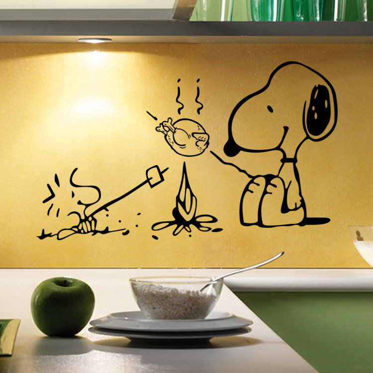 Hot Style Cartoon Barbecue Dog Popular DIY Wall Stickers For Dining Room  Children Room Decorate Mural Art Free Shipping In Wall Stickers From Home U0026  Garden ...