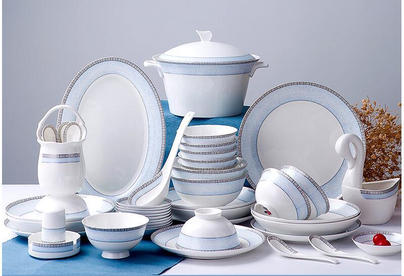 السيراميك عشاء وير لوحات عاء و أكواب مجموعات-في أطقم أدوات المائدة من المنزل والحديقة على  مجموعة 1