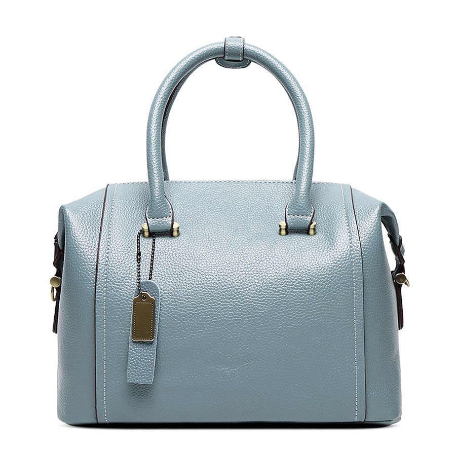 SNBS 100% женские сумки из натуральной кожи 2018 новая женская сумка большой емкости женская наплечная сумка диагональная модная сумка
