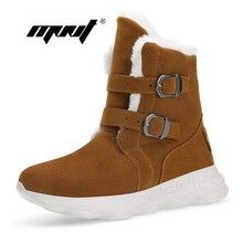 Plus Size Men Boots Platform Warm Fur Snow For Thick Plush Waterproof Slip-resistant Winter Shoes Dropshipping