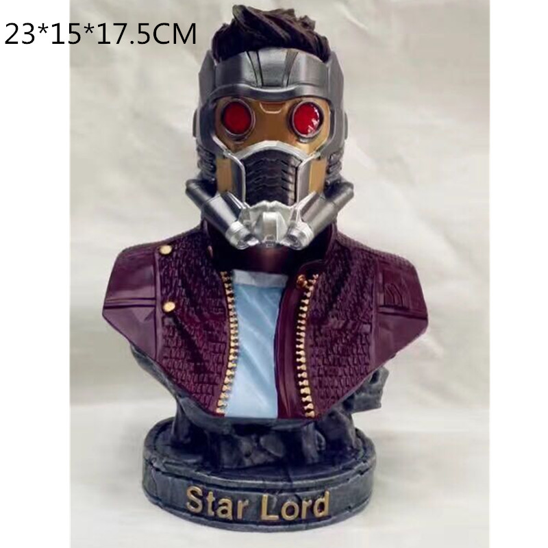 Avengers 3 Superhero Star-Lord 1/4 Bust Guardians Of The Galaxy Spaceman PVC Action Figure Collection Model Toy L2379Avengers 3 Superhero Star-Lord 1/4 Bust Guardians Of The Galaxy Spaceman PVC Action Figure Collection Model Toy L2379