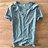 Spanish Style 100 Cotton Light Green Solid Casual T Shirt Men Fashion Brand Summer Clothing Men