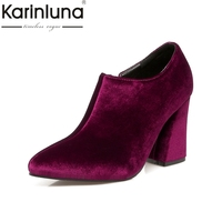 New Brand Design Sexy Big Size 34 43 Pointed Toe Women Shoes Woman European Style Pumps
