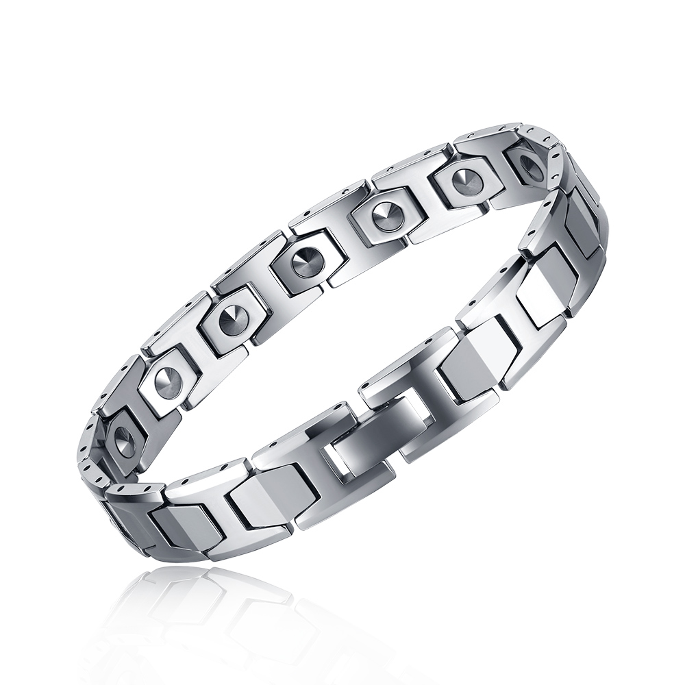 Mesinya 99.99% Germanium perles tungstène acier thérapie saine à la mode lien chaîne Bracelet pour hommes femmes bijoux G ft