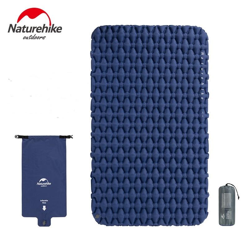 Naturehike Outdoor Ultralight Inflatable Mattress 2 Person Sleeping Pads Waterproof Bags Thicken Camping Mat W Fill Air Bag 970g
