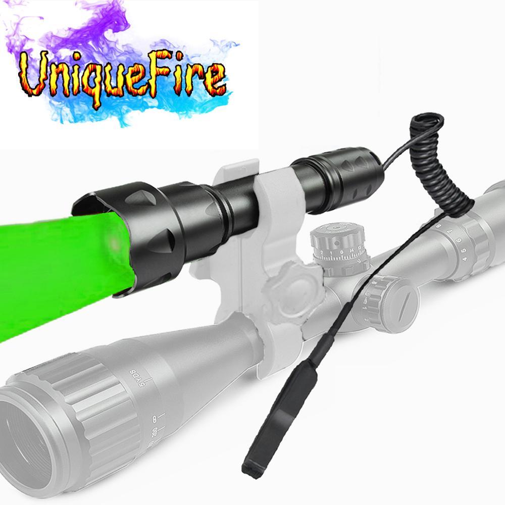 UniqueFire T20 XPE Rot / Grün / Weiß LED-Taschenlampe Zoombarer Fokus 38 mm Konvexlinsen-Taschenlampe mit doppeltem Fernbedienungsdruckschalter