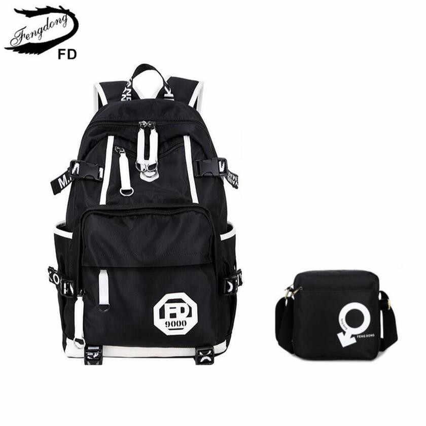 f587b09beb60 ... FengDong синие водонепроницаемые школьные ранцы для мальчиков большой школьный  рюкзак противокражная сумка сумки на плечо для ...