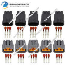 5 Sets 3 Pin male and female jacket plug waterproof connector with terminal DJ7034B-2.2-11 / 21 3P