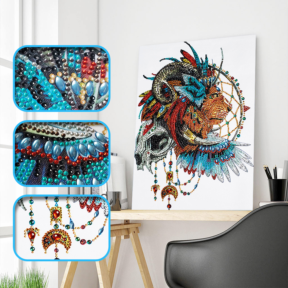 Special Shaped Diamond Painting Diamond mosaic Partial Drill Cross Stitch Kits Lion Pattern Crystal Diamond Embroidery Art CraftSpecial Shaped Diamond Painting Diamond mosaic Partial Drill Cross Stitch Kits Lion Pattern Crystal Diamond Embroidery Art Craft