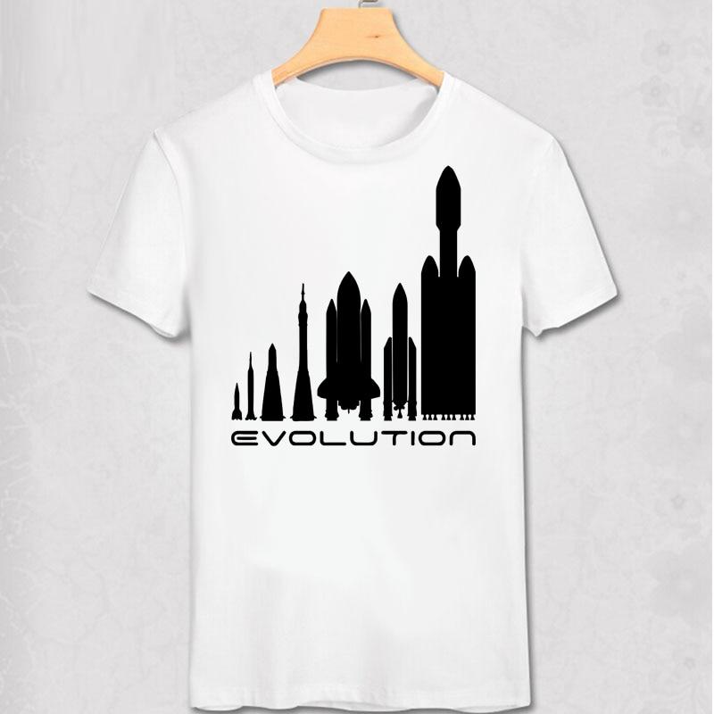 4f2ac8fb3 Space X t shirt Elon Musk T shirt Elon Musk Space X T-shirt Space rocket  evolution technology design men cotton short tee shirt
